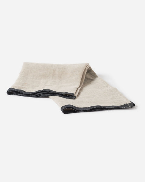 Selvedge Edge Linen Teatowel by Citta Design