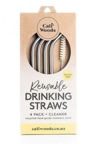 Stainless Steel Bent Drinking Straws by Caliwoods