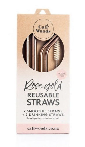 Rose Gold Metal Straws by Caliwoods