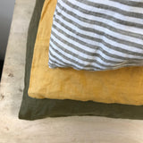 French Linen Pillowcases 2 Pack ~ Mustard
