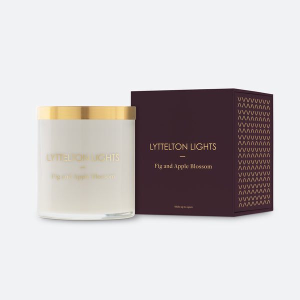 Fig & Apple Blossom Candle by Lyttelton lights