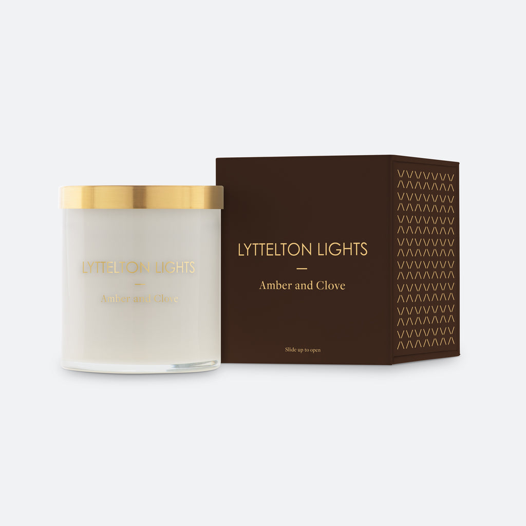 Amber and Clove Candle by Lyttelton Lights