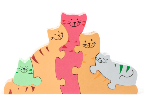 Cat Family 3D Puzzle by Trade Aid