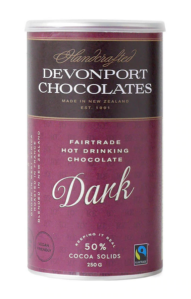 Fair Trade Dark Hot Chocolate by Devonport Chocolates