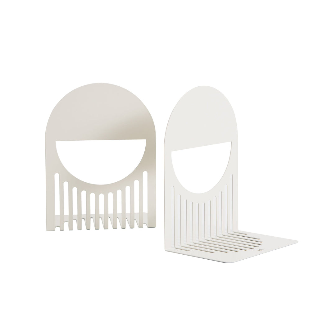 FOLD Arch Bookends ~ White