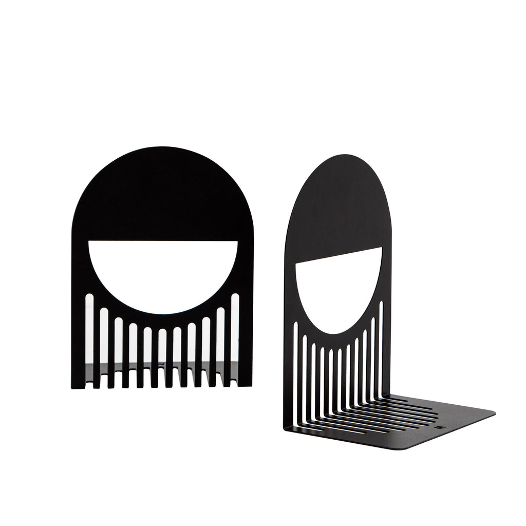 FOLD Arch Bookends Black ~ by Made of Tomorrow