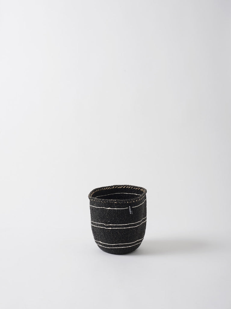 Kiondo 5 Stripe Basket - Black/White by Citta Design