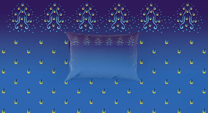 Blue, Gold Sky Blue Pillowcase