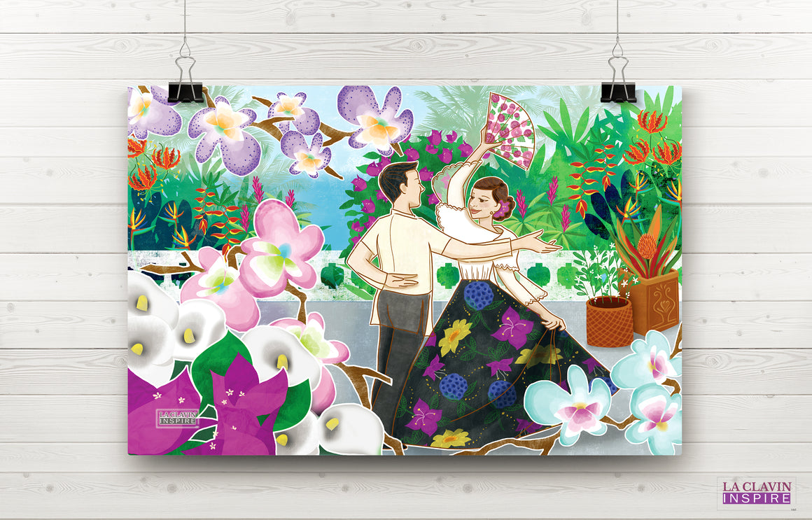 Carinosa Dance W/Fan Wall Art