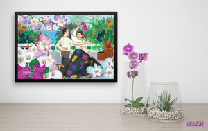 Carinosa Dance W/Handkerchief Wall Art