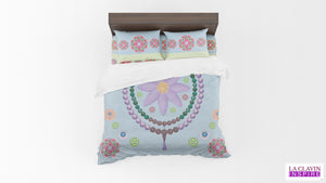 Lotus Flowers Blue Ridge Wildflowers Comforter