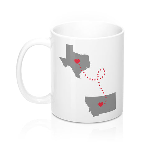 Texas to Montana Mug 11oz