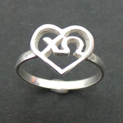 Chi Omega Heart Ring