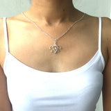 Silver Celtic Knot Turtle Necklace