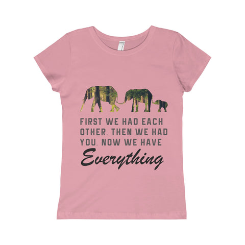 Elephant Kid Girl Tee Shirt
