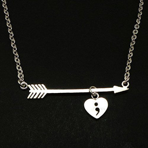 Arrow Semicolon Necklace