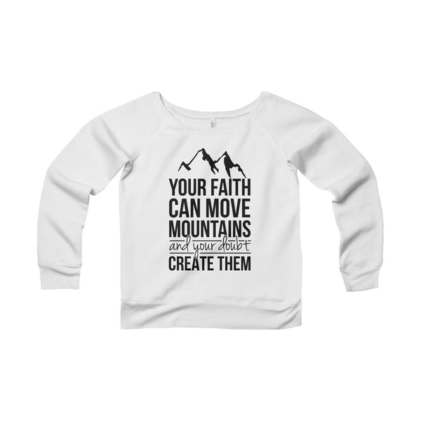 Mountain Women's Wide Neck Sweatshirt
