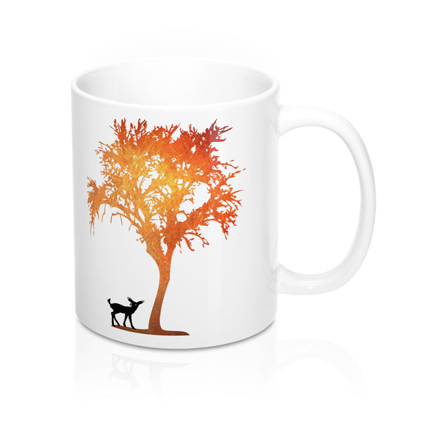 Deer And Tree Mug 11oz