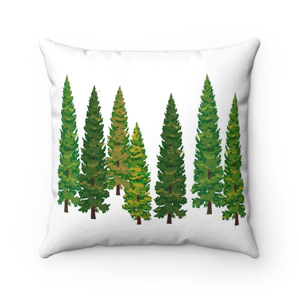 Nature Tree Polyester Square Pillow
