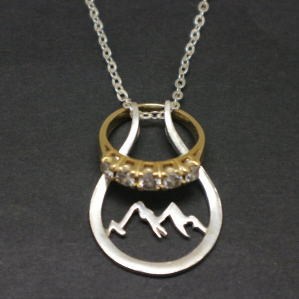 Mountain Ring Holder Necklace