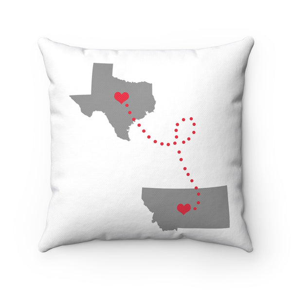 Texas to Montana Pillow