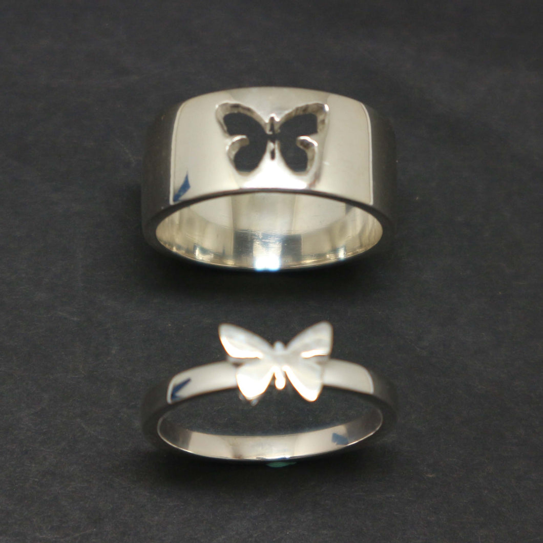 Butterfly Couple Promise Ring