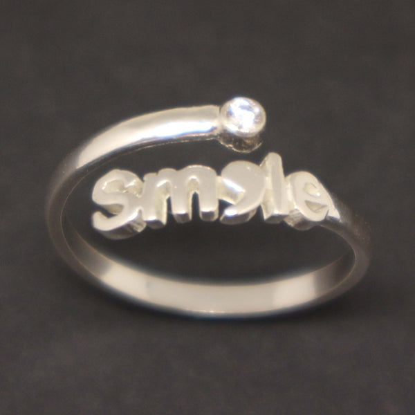 Smile Semicolon Ring