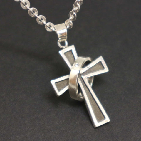 Cross with Ring Necklace