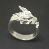 Silver Dragon Head Ring