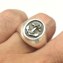Load image into Gallery viewer, Mens Anchor Ring