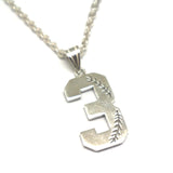 Baseball Jersey Number Necklace