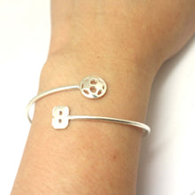 Load image into Gallery viewer, Personalized Jersey Number Soccer ball Bracelet