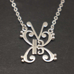 Music Note Butterfly Necklace