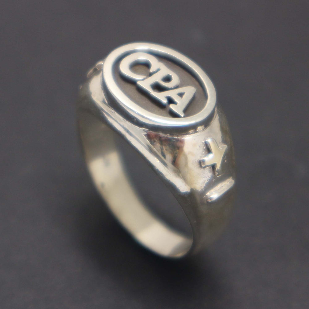 Accountant CPA Graduation Ring