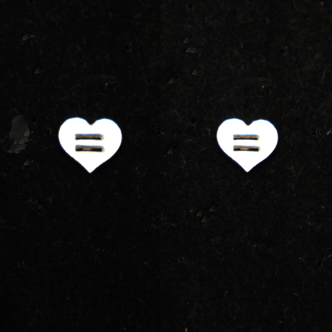 Equality Heart Pride Stud Earring