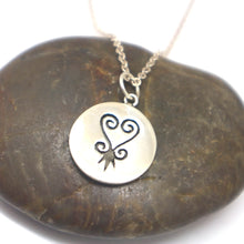 Load image into Gallery viewer, Silver Adinkra Necklace