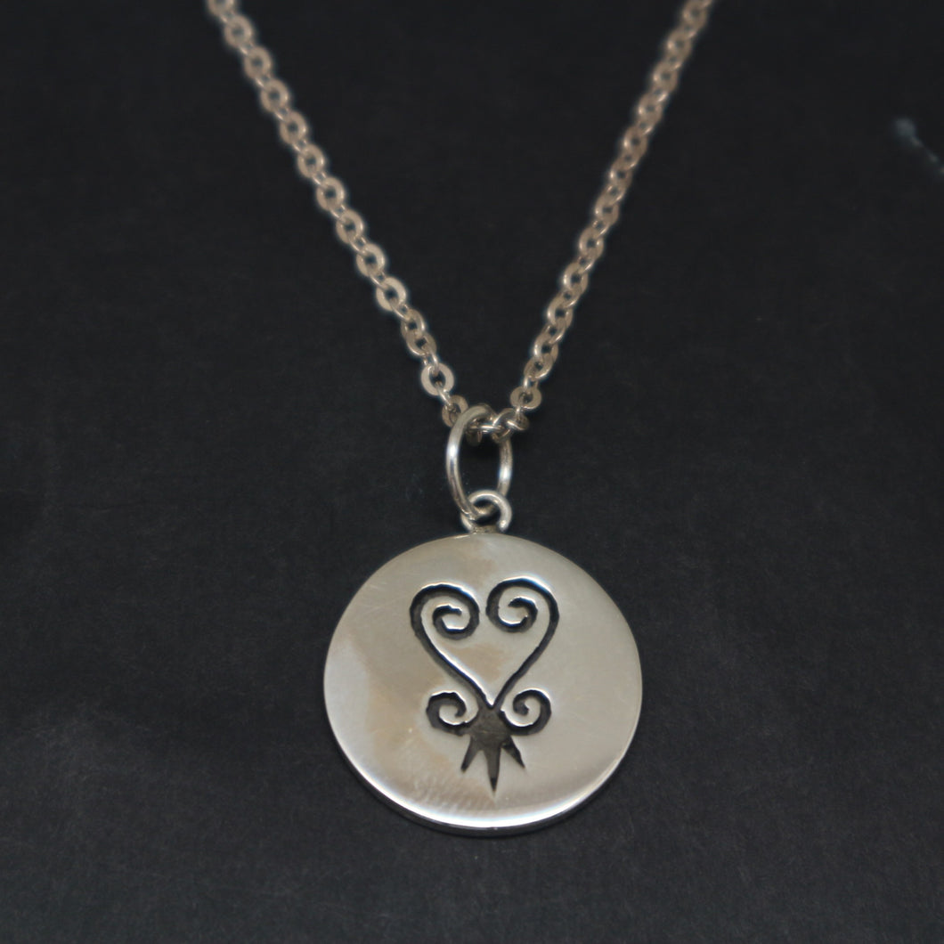 Silver Adinkra Necklace