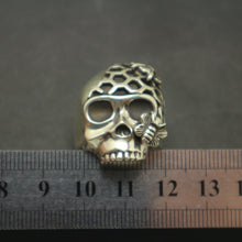 Load image into Gallery viewer, Skull and Honeycomb Bee Ring