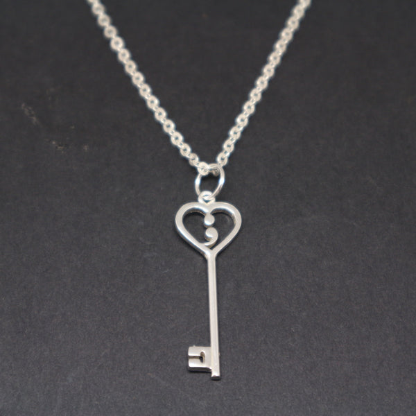 Silver Semicolon Key Necklace