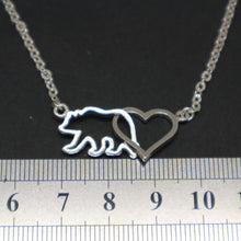 Load image into Gallery viewer, Mamabear Interlocking Heart Necklace