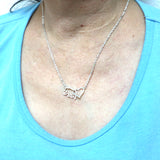 Mamabear Interlocking Heart Necklace