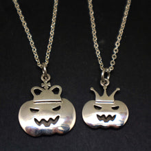 Load image into Gallery viewer, Halloween Pumpkin Couple Necklaces