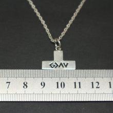 Load image into Gallery viewer, God is Greater Cross Necklace