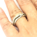 Snake Engagement Ouroboros Ring for Men
