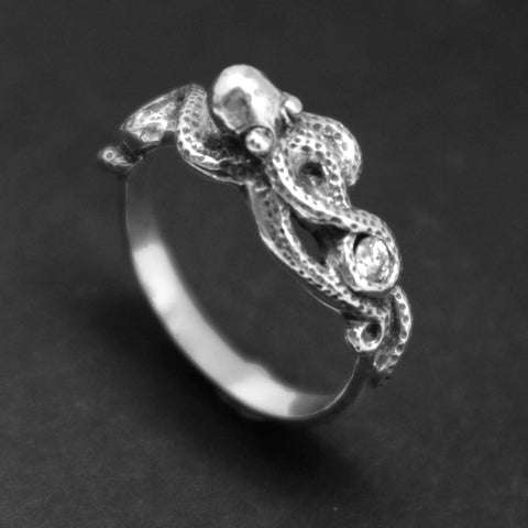 Octopus Engagement Ring for Women