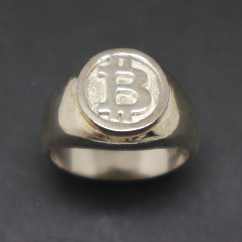 Bitcoin Men Signet Ring