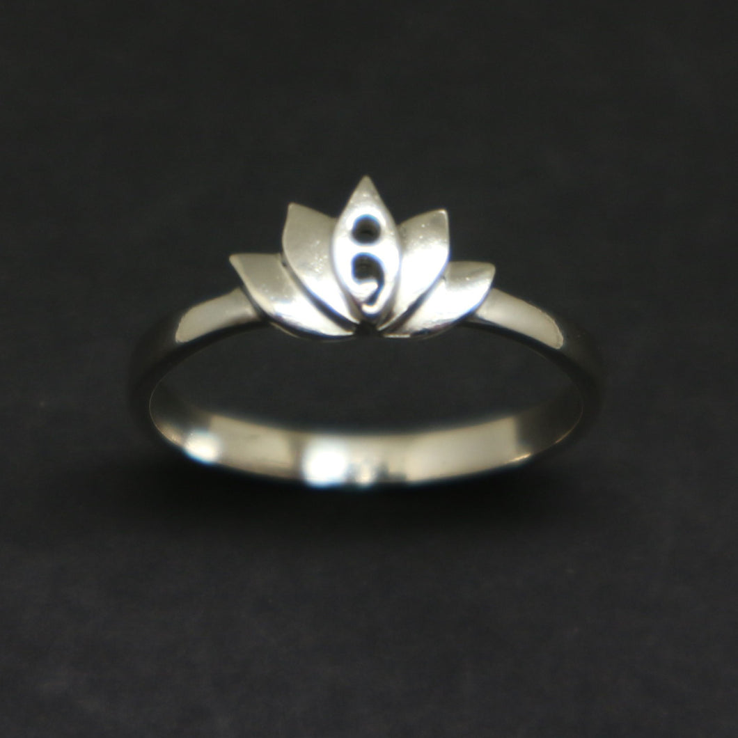 semicolon lotus ring