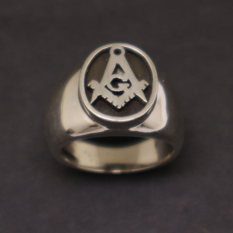 Masonic Men Signet Ring