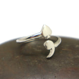 Ace of Spades Semicolon Ring