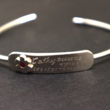 Load image into Gallery viewer, Diabetic Medical Id Bracelet